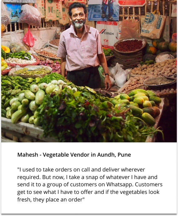 Mahesh – Vegetable vendor Pune