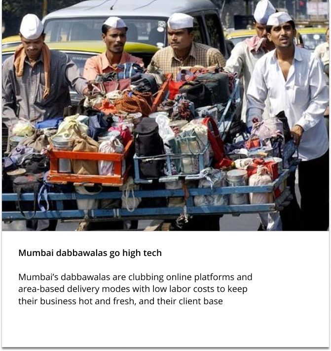 Mumbai dabbawals go high tech