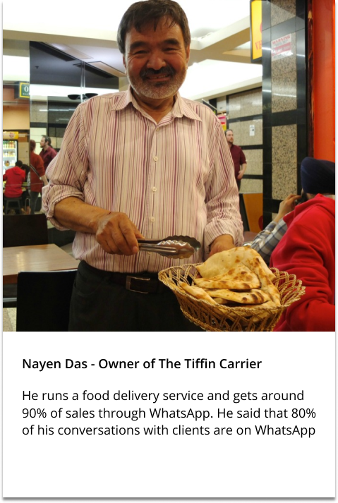 Nayen Das – Tiffin Owner